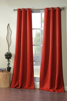 Duck River Textile Steyna Solid Blackout Curtain Set - Red