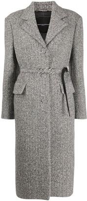 Ermanno Scervino Belted Single-Breasted Coat
