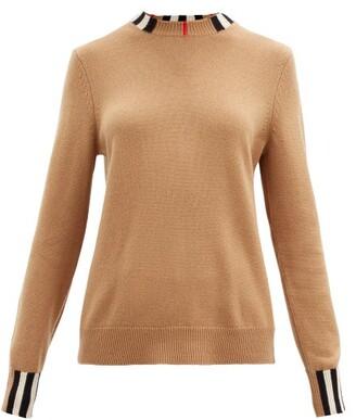 Burberry Icon-stripe Cashmere Sweater - Beige