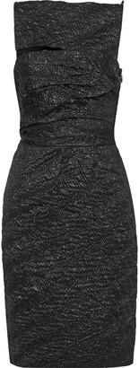 Narciso Rodriguez Cutout Metallic Silk-blend Cloque Dress