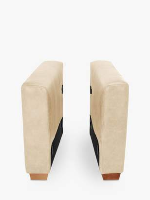 House By John Lewis House by John Lewis Oliver Leather Modular Pair of Arms, Dark Leg