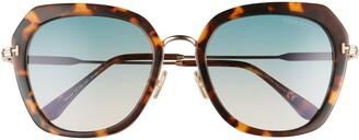Tom Ford Kenyan 54mm Gradient Round Sunglasses
