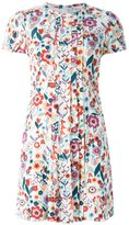 RED Valentino floral print front pleated dress