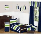 JoJo Designs Sweet Navy and Lime Stripe 5-Piece Toddler Bedding Set