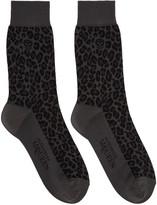 Alexander McQueen Grey Leopard Socks