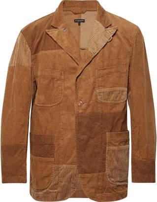 Engineered Garments Camel Patchwork Cotton-Corduroy Blazer