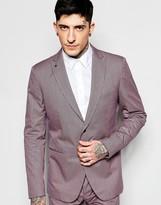 Sisley Slim Fit Suit Jacket In Micro Check