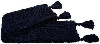 A & R Cashmere Chunky Blend Throw - Blue - a&R Cashmere
