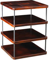 French Heritage Mondrian Square Side Table - Black Cherry