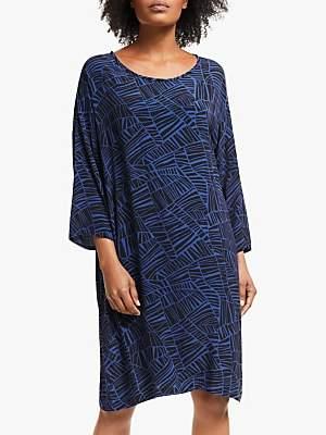 Masai Copenhagen Nitassa Geo Print Dress, Royal Blue