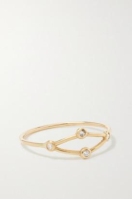 Sebastian Net 10-karat Gold Diamond Ring - small