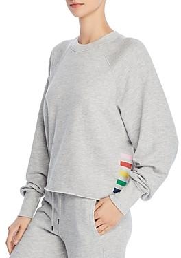 Sundry Rainbow Striped Sweatshirt