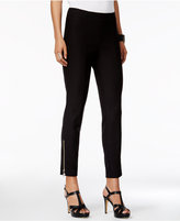 Thalia Sodi Ankle-Zip Straight-Leg Pants, Only at Macy's