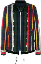 Sacai striped zipped jacket