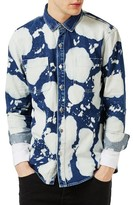 Topman Men's Bleached Denim Shirt