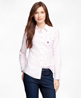 Brooks Brothers Supima® Cotton Oxford Stripe Shirt