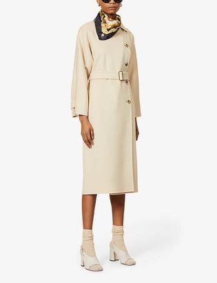 Max Mara Osol belted camel wool coat