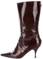 Philosophy di Alberta Ferretti Patent Leather Pointed-Toe Boots