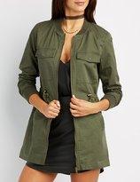 Charlotte Russe Longline Bomber Anorak Jacket