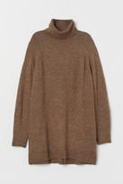 H&M Long Turtleneck Sweater - Beige
