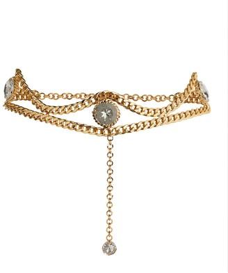 Alessandra Rich Embellished Chain Belt