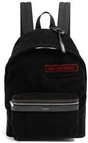 Saint Laurent Leather-trimmed cotton-corduroy backpack