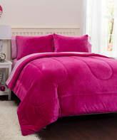 Idea Nuova Pink Royal Plush Five-Piece Reversible Comforter Set