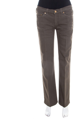Roberto Cavalli Grey Denim Regular Fit Low Waist Jeans M