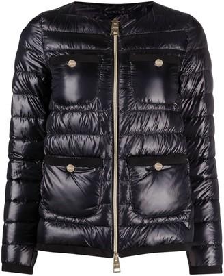 Herno Collarless Zip-Up Padded Jacket