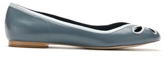 Sarah Chofakian Dancing House leather ballerina shoes