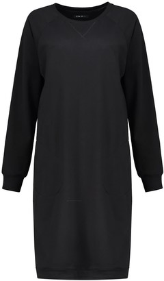 Eva D. Dolly Sweater Dress In Black Organic Cotton