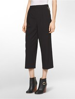 Calvin Klein Straight Fit Zip Cropped Pants