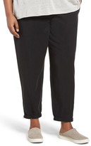 Eileen Fisher Plus Size Women's Tencel Twill Tapered Ankle Pants
