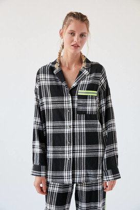 Out From Under Cody Neon Trim Flannel Shirt