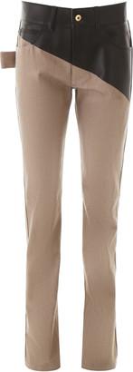 Bottega Veneta Dual Fabric Jeans