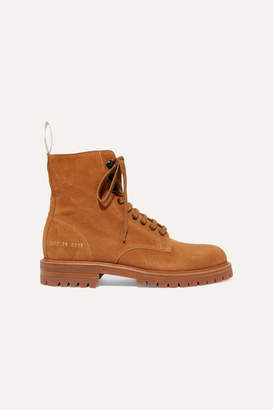 Common Projects Combat Suede Ankle Boots - Tan
