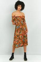 Kimchi Blue Picnic Printed Off-the-shoulder Midi Dress