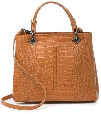 Persaman New York Freyya Croc-Embossed Leather Satchel