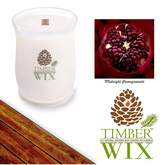 Country Jar Timber Wix MIDNIGHT POMEGRANATE Scented Wood Wick Soy Candle (32 oz.) America's Choice All-Natural Candle 100% USA Grown Soy