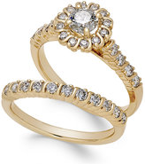 Macy's Diamond Halo Bridal Set (1-1/8 ct. t.w.) in 14k Gold