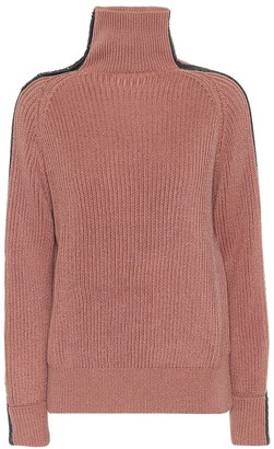 Bottega Veneta Leather-trimmed cotton sweater