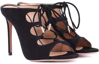 Aquazzura Flirt 105 suede sandals