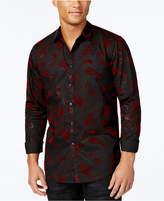 INC International Concepts I.n.c. Men's Velvet Paisley Shirt, Created for Macy's