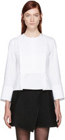 Carven White Poplin Blouse
