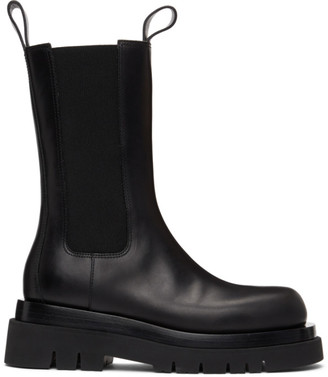 Bottega Veneta Black The Lug Chelsea Boots