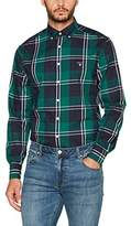 Gant Men's Tech Prep Twill Jaspé Fall Check Casual Shirt,Large (Manufacturer Size: L)