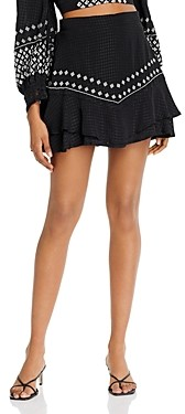 Rahi Sasha Embroidered Mini Skirt