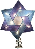Kurt Adler 8 1/2-in. LED Capiz Shell Star of David Hanukkah Tree Topper