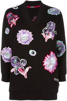 Kenzo 'Dandelion' embroidered sweatshirt - women - Cotton - XS