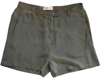 Selected Green Silk Shorts for Women